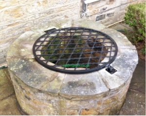 Handmade Wrought Iron Metal Well Cover